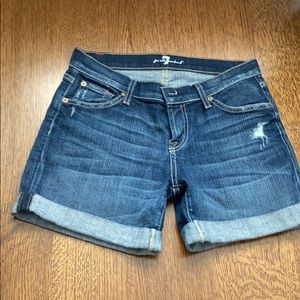 2/$40 7 for All Mankind Denim Shorts